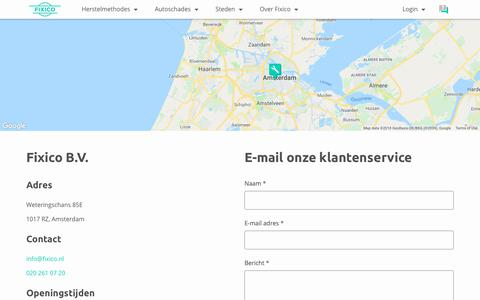 Screenshot of Contact Page fixico.nl - Fixico.nl | Klantenservice contact - captured Oct. 10, 2018