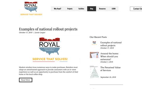 Screenshot of Blog royalsolves.com - Facility Maintenance Services Blog | Royal Services - captured Oct. 20, 2018
