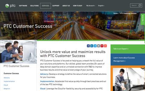 Screenshot of Services Page ptc.com - PTC Customer Success   PTC - captured May 26, 2017