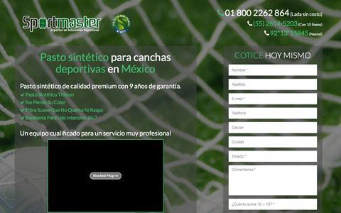 Screenshot of canchaspastosintetico.mx - CANCHAS DE PASTO SINTÉTICO  - captured Nov. 11, 2015