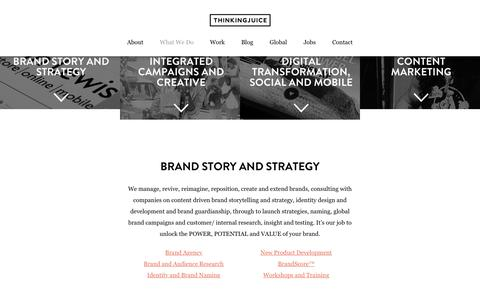 What We Do - Advertising Agency Services, Digital Agency London, Bournemouth, Dorset, UK   Thinking Juice