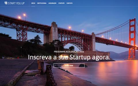 Screenshot of Home Page startyouup.com.br - Start You Up - Accelerator - captured Jan. 21, 2016