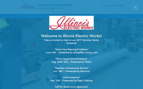 Screenshot of Home Page illinoiselectric.com - Electric Motor Repair | Granite City | Illinois Electric Works - captured Oct. 14, 2017