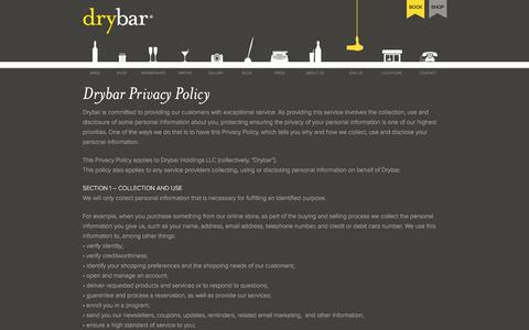 Screenshot of Privacy Page thedrybar.com - Must-Have: The Four Pack - captured Nov. 9, 2015