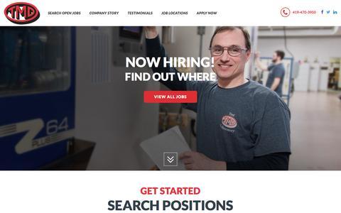 Screenshot of Jobs Page tmdinc.com - TMD Jobs : Find Automotive Manufacturing Engineering Jobs - captured Oct. 24, 2017