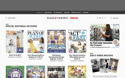 New York Daily News Services, Home Delivery, NIE, Media, Special Sections - Homepage - NY Daily News