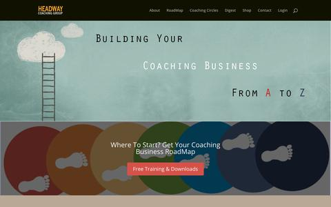 Screenshot of Home Page headwaycoachinggroup.com - Headway Coaching Group | - captured June 1, 2018