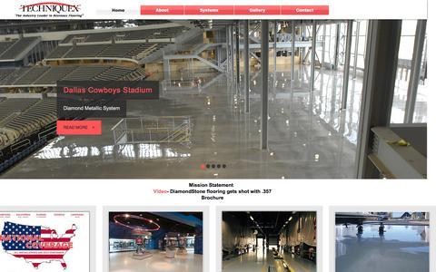 Screenshot of Home Page techniquex.com - techniquex - captured Feb. 14, 2016