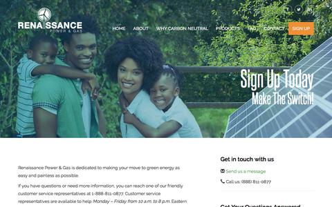 Screenshot of Signup Page renaissancepowerandgas.com - Sign Up - Renaissance Power and Gas - captured June 13, 2017