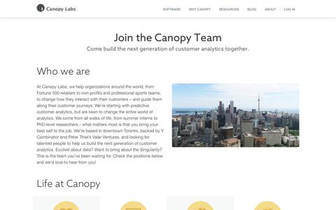 Join the Canopy Team | Canopy Labs