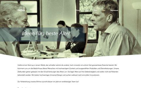 Screenshot of Jobs Page helikia.de - Jobs - captured Sept. 29, 2014