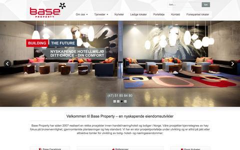 Screenshot of Home Page base-property.no - Base Property - captured Feb. 7, 2016