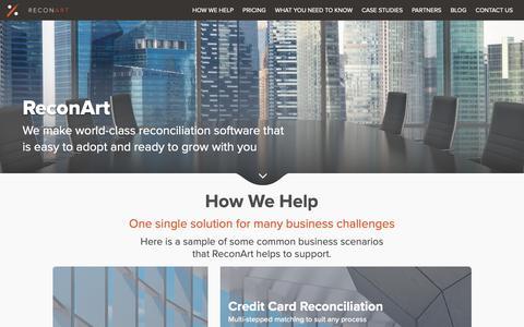 Screenshot of Home Page reconart.com - Reconart Home - captured Feb. 12, 2019