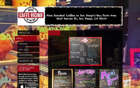 Screenshot of Menu Page caffevicino.net - Menu | Caffe Vicino - captured Sept. 26, 2014
