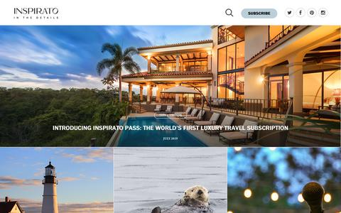 Screenshot of Blog inspirato.com - The Luxury Travel Blog   Luxury Travel Experts   Inspirato - captured Aug. 3, 2019