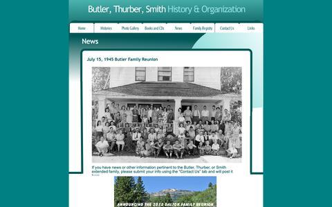 Screenshot of Press Page butlerthurbersmith.com - News - captured Oct. 25, 2018