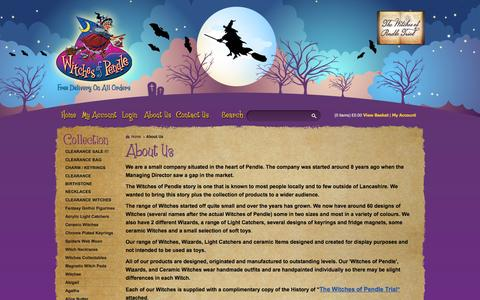 Screenshot of About Page witchesofpendleshop.com - About Us - Witches of Pendle - Pendle Witches Collectables & Gifts - captured Oct. 7, 2014