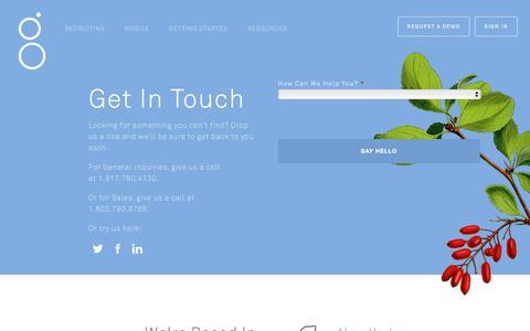 Screenshot of Contact Page greenhouse.io - Contact Greenhouse | Greenhouse - captured Aug. 5, 2017
