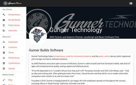 Screenshot of Home Page Privacy Page gunnertech.com - Gunner Technology - captured Nov. 11, 2018