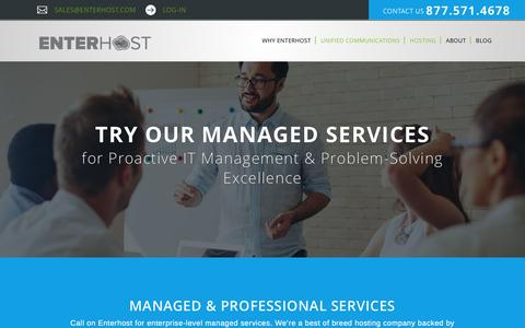 Screenshot of Services Page enterhost.com - Managed & Professional IT Services - Enterhost - captured May 19, 2017