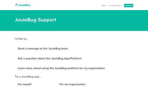 Screenshot of Contact Page joulebug.com - Contact - JouleBug - captured Nov. 13, 2018