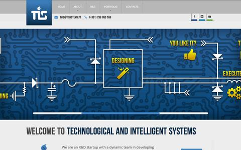 Screenshot of Home Page tisystems.pt - TIS - Technological and Intelligent Systems - captured Oct. 7, 2014