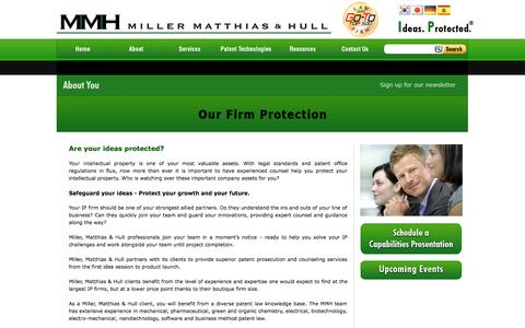 Screenshot of Products Page millermatthiashull.com - Miller, Matthias & Hull – About You - captured Oct. 7, 2014