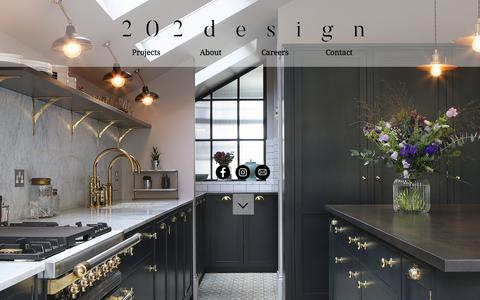 Screenshot of Home Page 202design.co.uk - 202 Design, Bespoke kitchens, furniture and cabinetry - captured Oct. 25, 2017