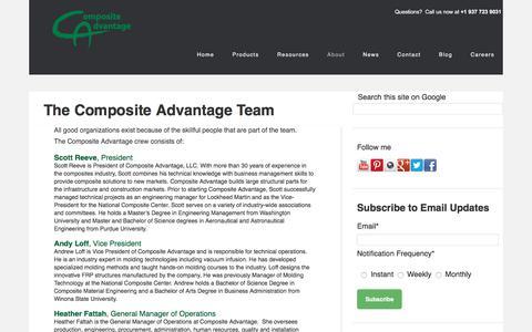 Screenshot of Team Page compositeadvantage.com - About Composite Advantage - Our Team - captured Jan. 6, 2018