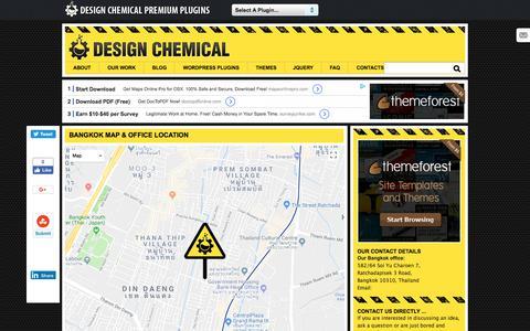 Screenshot of Contact Page designchemical.com - Contact Details For Design Chemical Bangkok - captured April 19, 2018