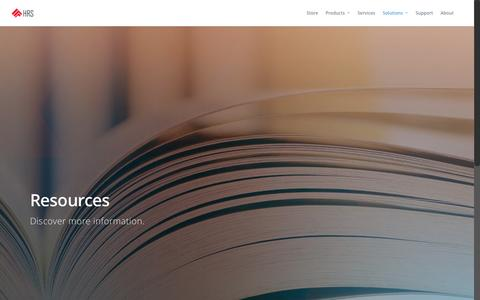 Screenshot of Case Studies Page hrscontrol.com - Case Studies |  High Resolution Systems - captured Nov. 8, 2016