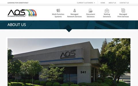 Screenshot of About Page aoscopy.com - About Us - Automated Office Systems Automated Office Systems - captured Nov. 13, 2018