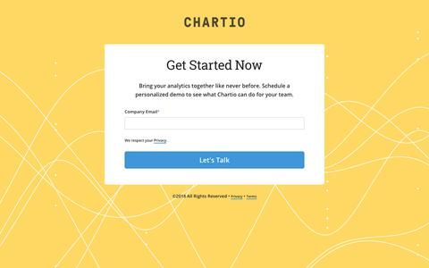 Screenshot of Signup Page chartio.com - Chartio is a cloud-based data exploration solution for all - captured Oct. 6, 2018