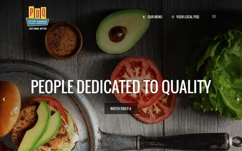 Screenshot of Home Page eatpdq.com - PDQ | Home - captured Oct. 3, 2016