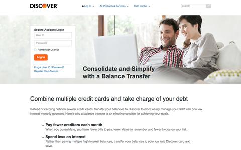 Balance Transfers: Best Debt Consolidation Methods | Discover