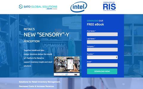Screenshot of Landing Page satoglobalsolutions.com - Retail Inventory Software - captured July 15, 2016