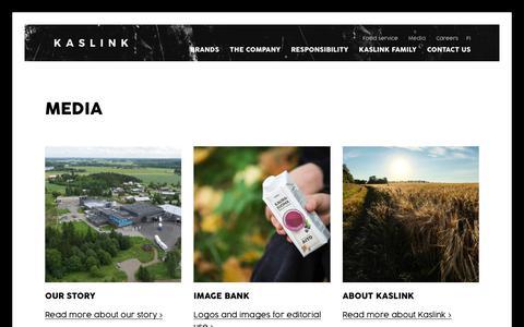 Screenshot of Press Page kaslink.com - Media - Kaslink - captured Oct. 15, 2018