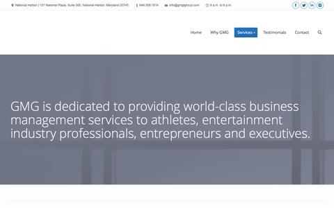 Screenshot of Services Page gmgtgroup.com - Gadson Management Group |   Services - captured Jan. 25, 2016