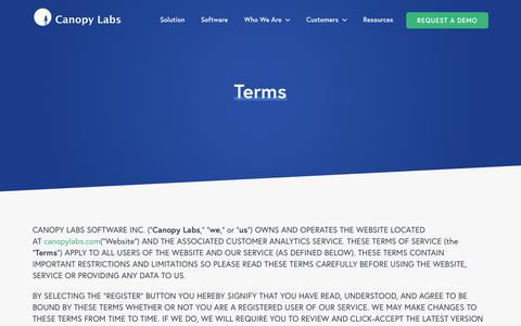 Terms - Canopy Labs
