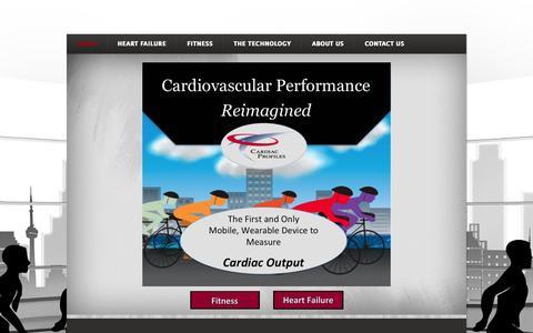 Screenshot of Home Page cardiacprofiles.com - Cardiac Profiles - Home - captured June 18, 2015