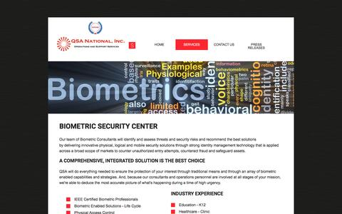 Screenshot of Services Page qsanational.com - Services - captured Jan. 24, 2016