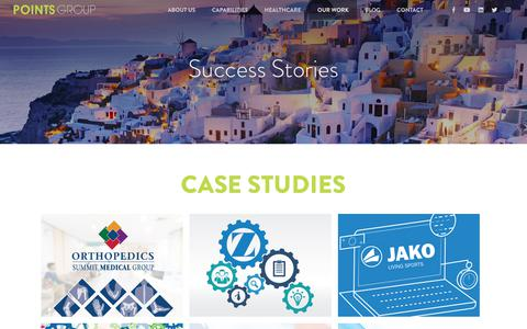 Screenshot of Case Studies Page pointsgroup.com - Case Studies - Points Group - Marketing Agency - New Jersey - captured July 20, 2018