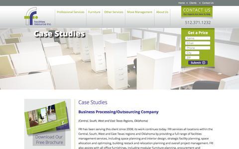 Screenshot of Case Studies Page facilitiesresourceinc.com - Case Studies - Facilities Resource, Inc. - captured Jan. 8, 2016