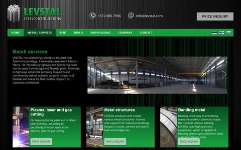 Screenshot of Services Page levstal.com - Custom Metal Work | Metal Cleaning | Metal Treatment - captured Dec. 9, 2015