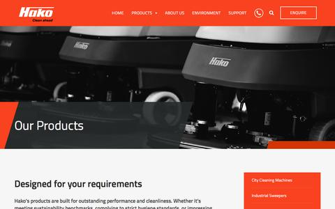 Screenshot of Products Page hakoaustralia.com.au - See Our Product Range - Hako Australia - captured July 12, 2017