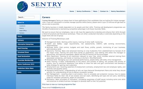 Screenshot of Jobs Page sentry.co.uk - Careers | Sentry Company Information - captured Oct. 7, 2014