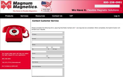 Screenshot of Trial Page magnummagnetics.com - Contact Magnum Magnetics Customer Service - captured Nov. 12, 2016
