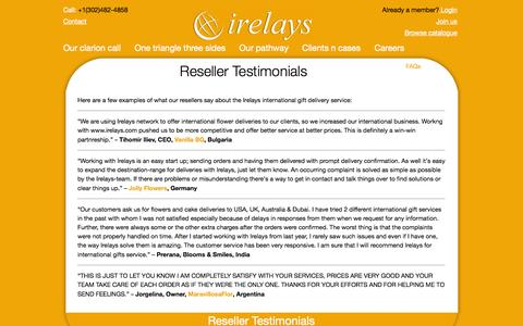 Screenshot of Testimonials Page irelays.com - Testimonials | irelays - captured Sept. 23, 2014