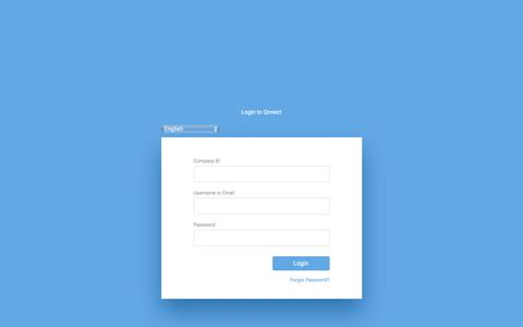 Screenshot of Login Page qnnect.com - Qnnect - captured July 5, 2018