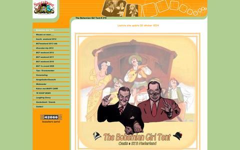 Screenshot of Home Page laurel-hardy-web.info - Bohemian Girl Tent - captured Oct. 5, 2014